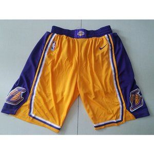 NEW Nike Lakers Retro Yellow Embroidery Shorts